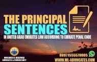 principal sentences United Arab Emirates law according emirate penal code