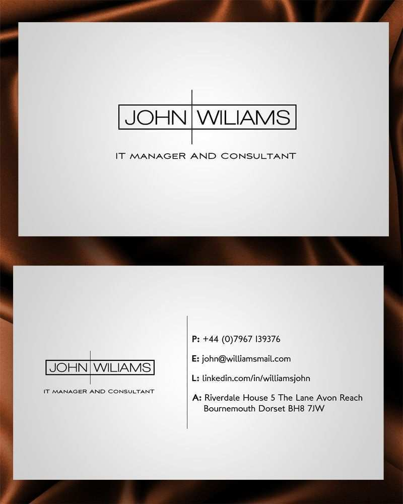 14 Free Printable Business Card Template For Job Seeker