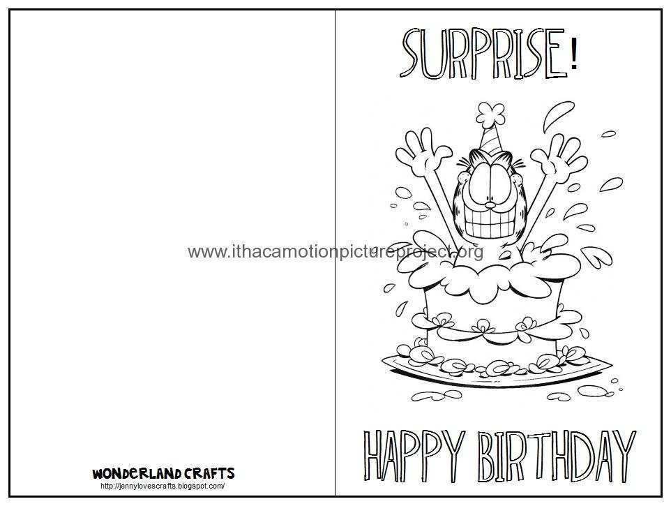 38 Free Happy Birthday Card Template Black And White For Free For Happy Birthday Card Template Black And White Cards Design Templates
