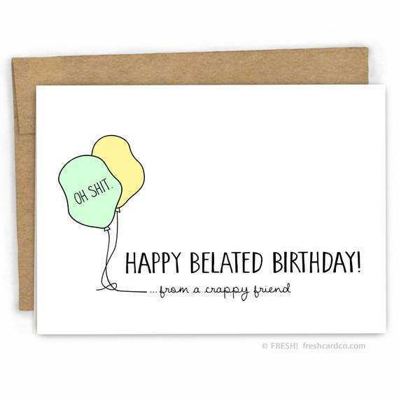 52 Free Belated Birthday Card Template For Free For Belated Birthday Card Template Cards Design Templates