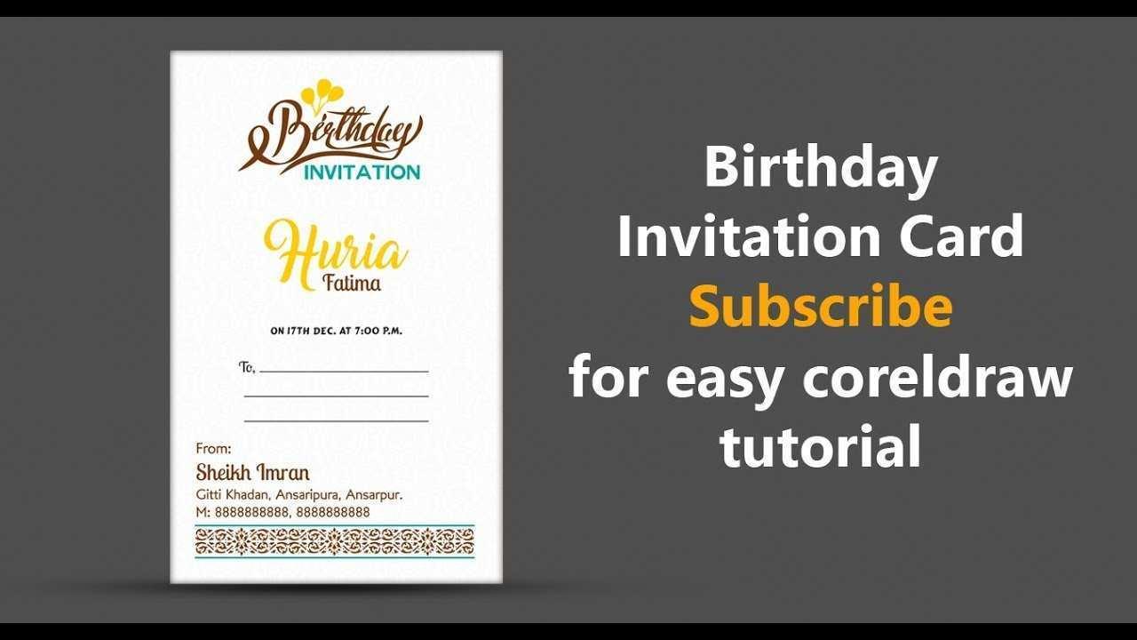 56 format birthday invitation card