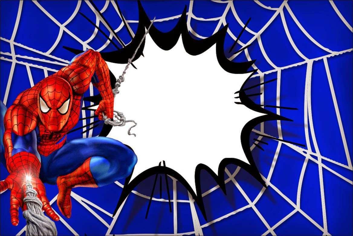 birthday card template spiderman