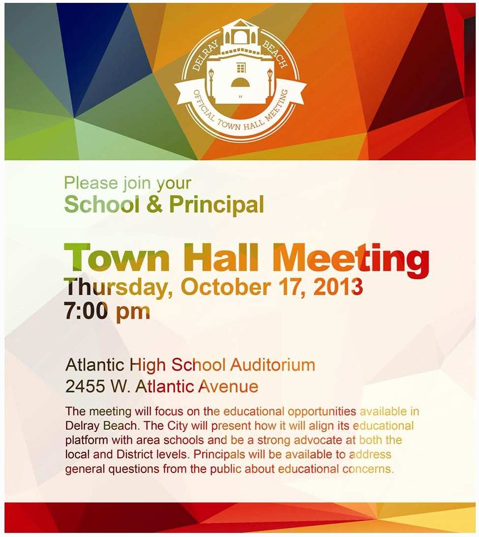 Town Hall Flyer Template Cards Design Templates