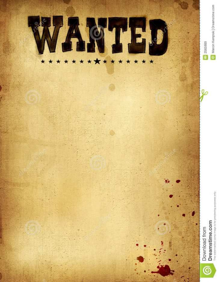 83 free printable wanted flyer template