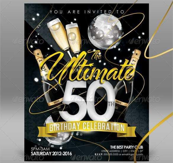 50th Birthday Card Invitation Templates
