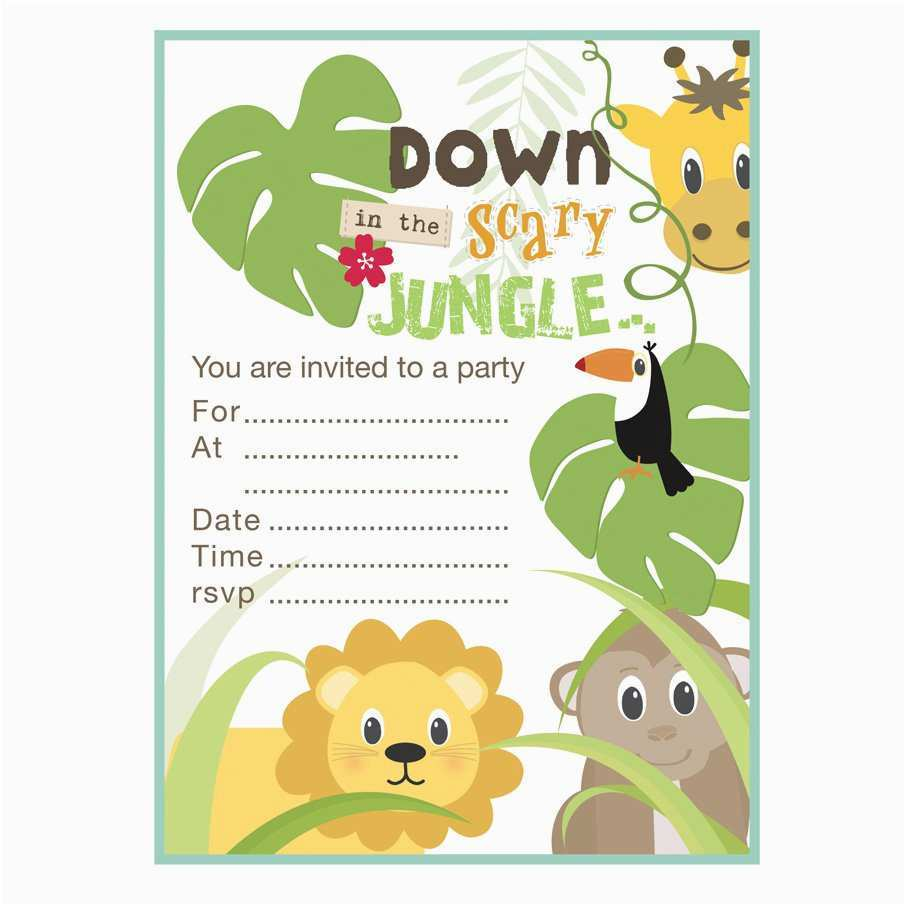 25 online jungle theme birthday