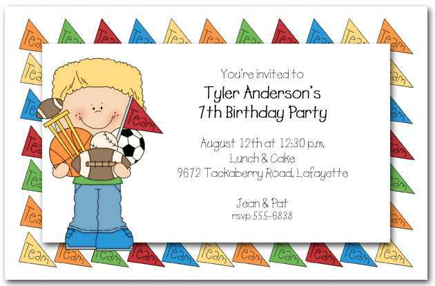 party invitation template for open