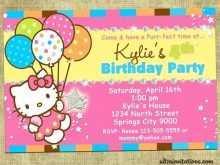 7th birthday invitation template hello