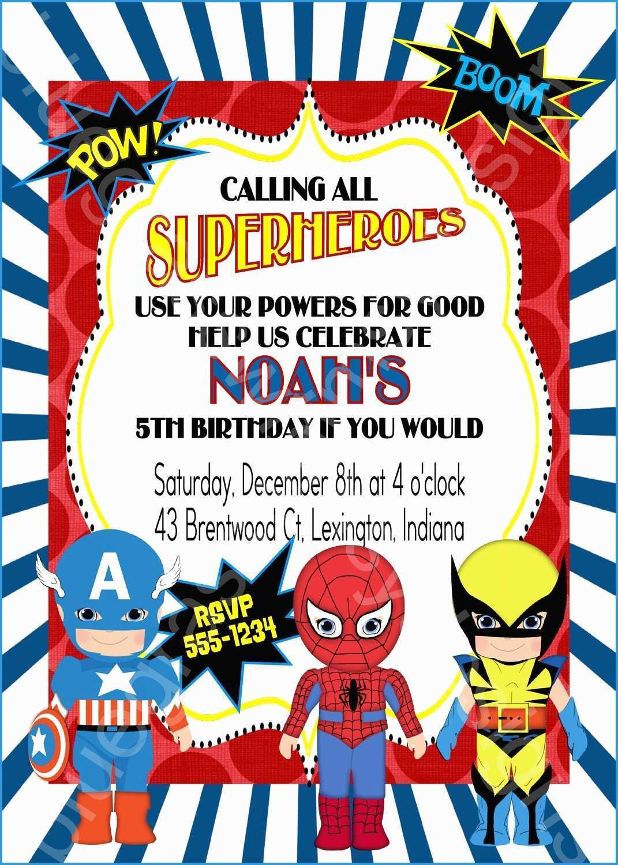 birthday invitation template superhero