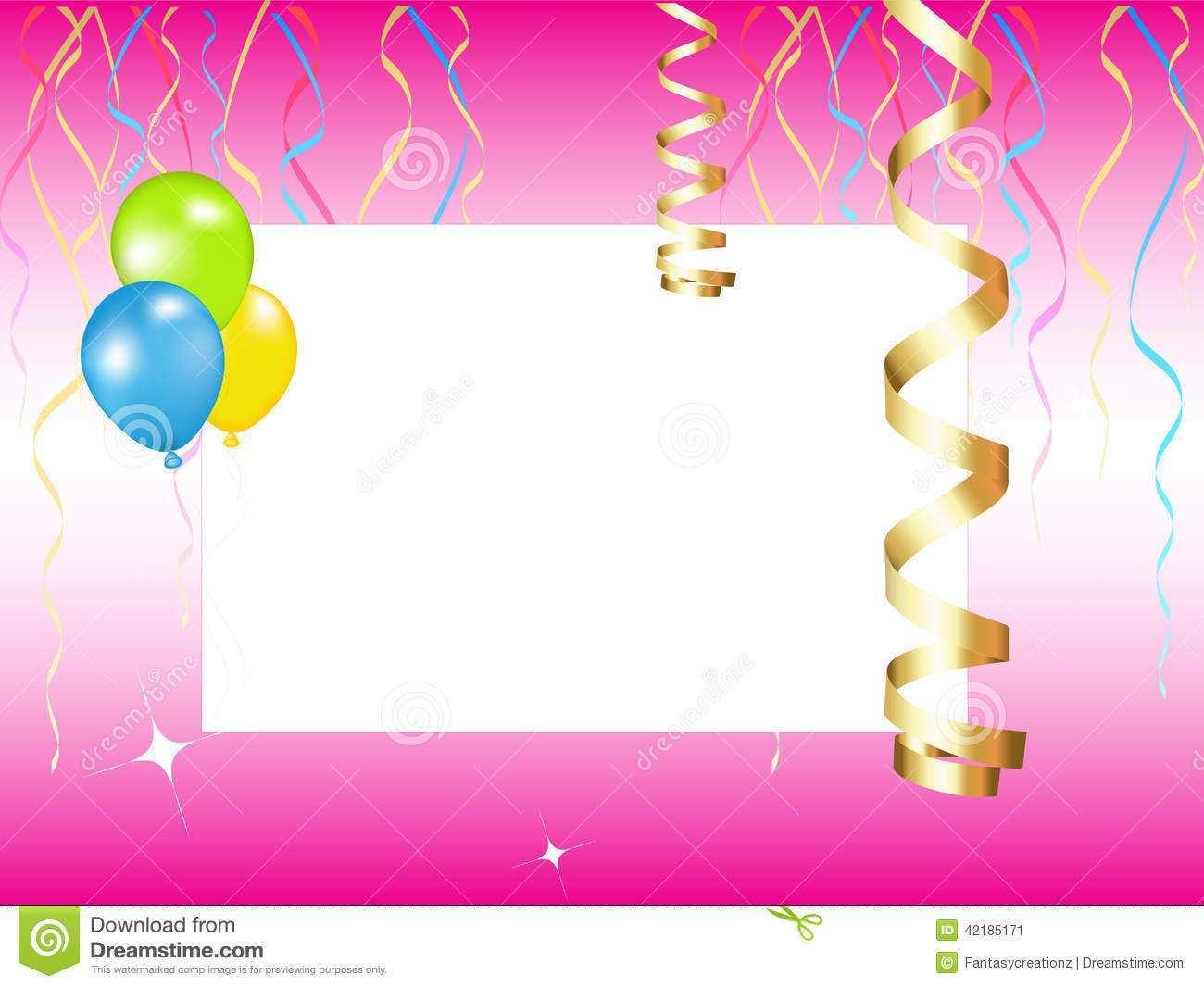53 blank birthday invitation background
