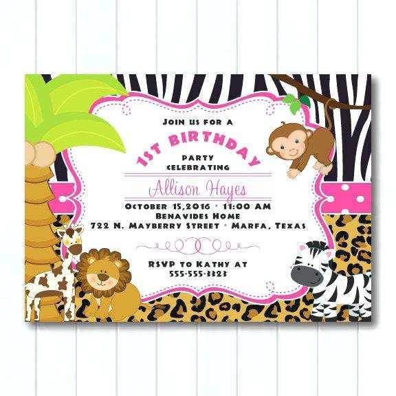 63 blank jungle safari birthday