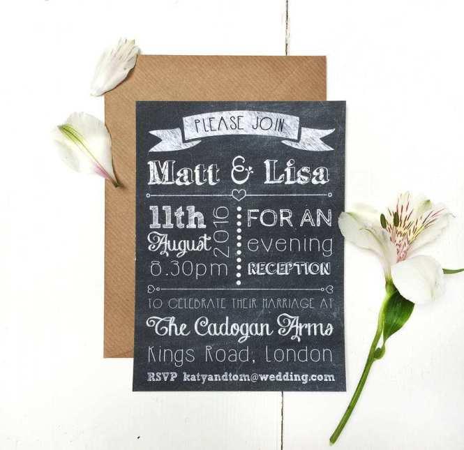 66 Report Evening Wedding Invitation
