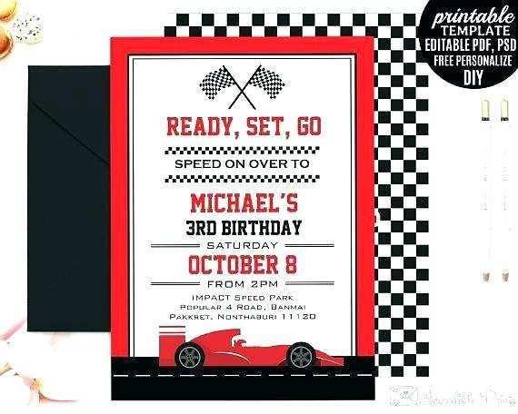 68 free race car birthday invitation