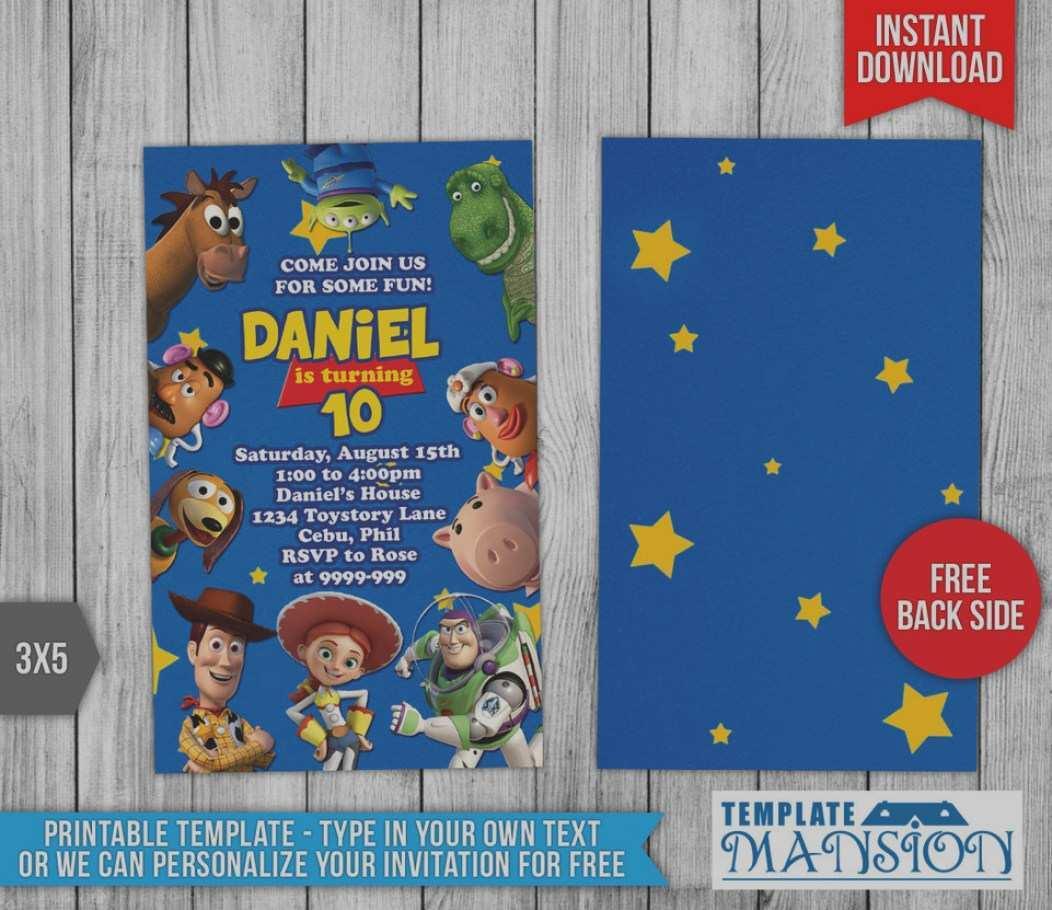 toy story birthday invitation template