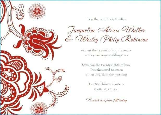 98 format indian wedding invitation