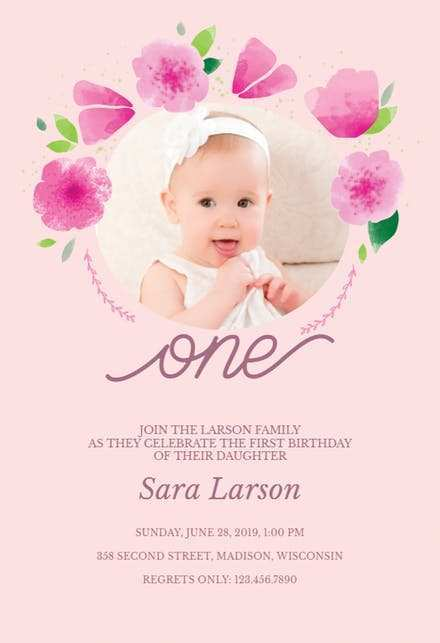 14 blank one year birthday invitation