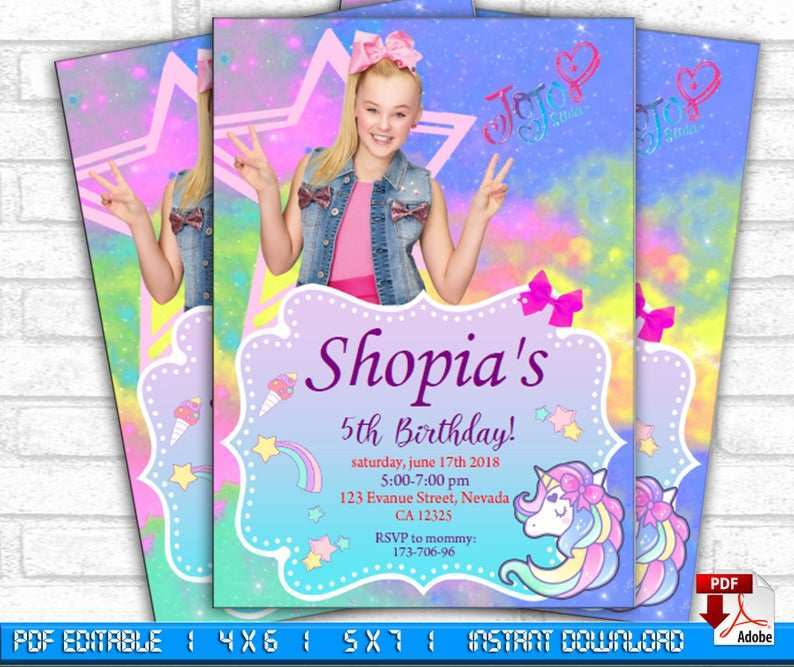 14 customize jojo siwa party invitation