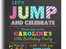 15 free printable trampoline birthday