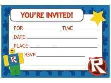 roblox birthday invitation template
