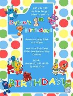 17 standard sesame street 1st birthday