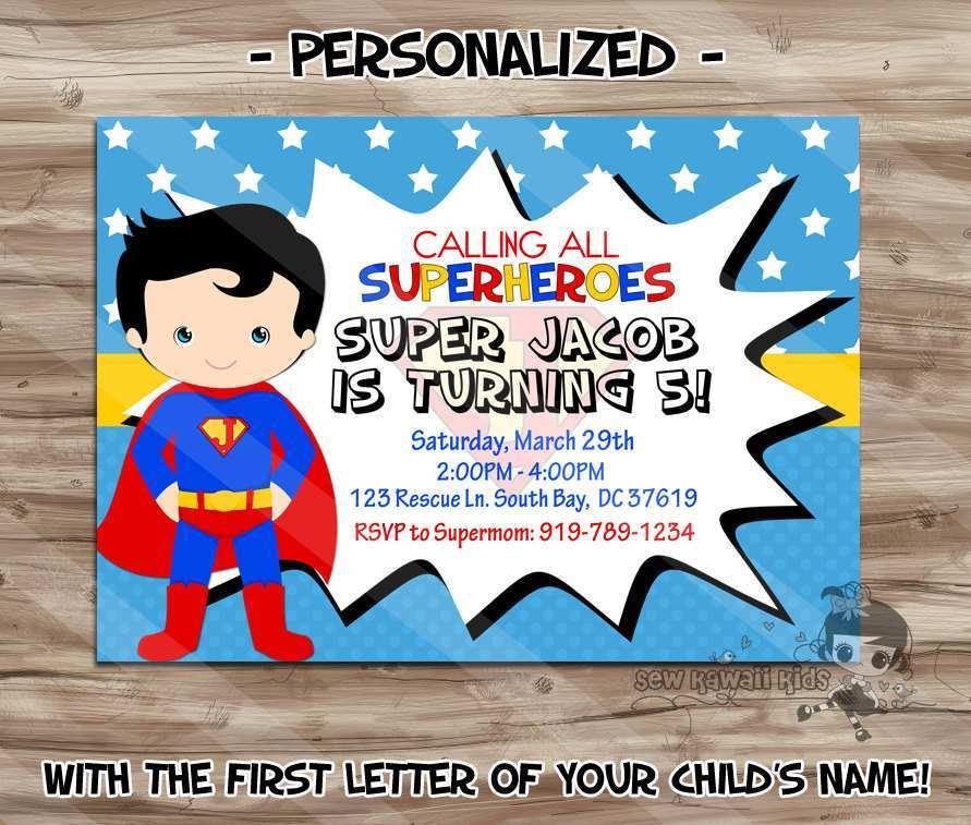18 blank superman birthday invitation