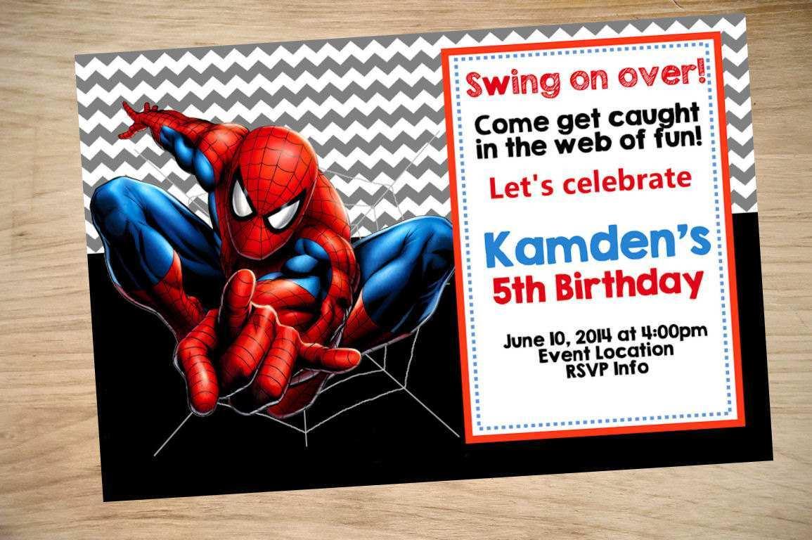 birthday invitation template spiderman