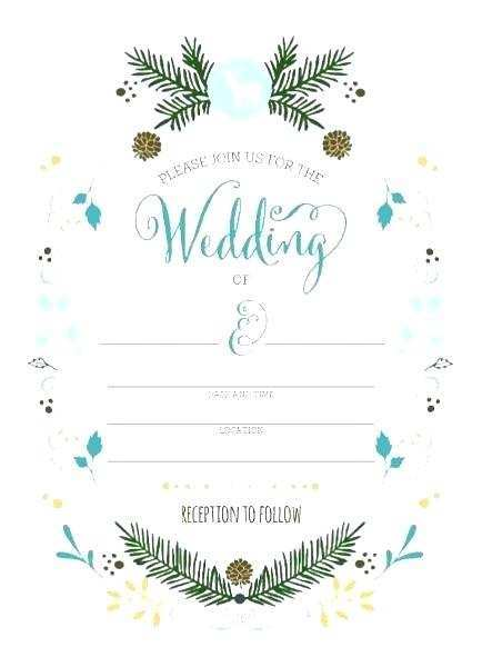 Blank Wedding Invitation Templates Hd