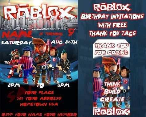 27 printable roblox party invitation