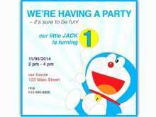 43 format doraemon birthday invitation