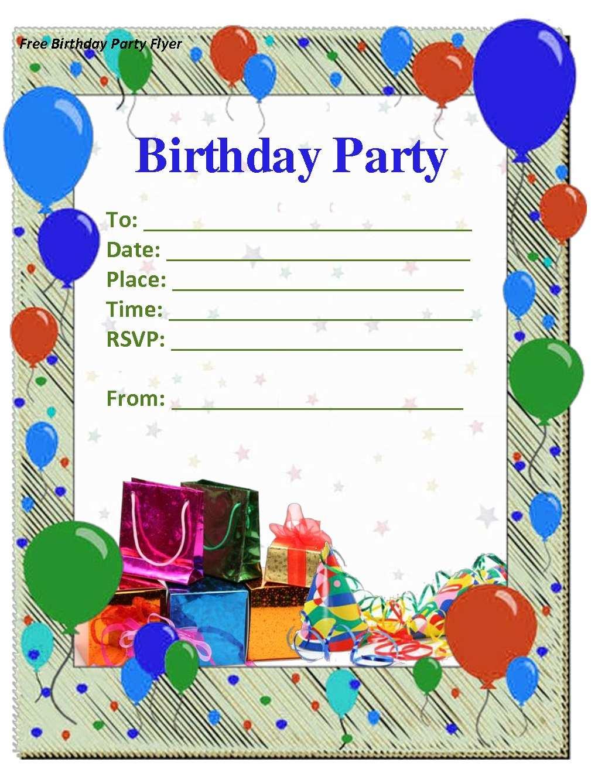 33 blank birthday invitation templates