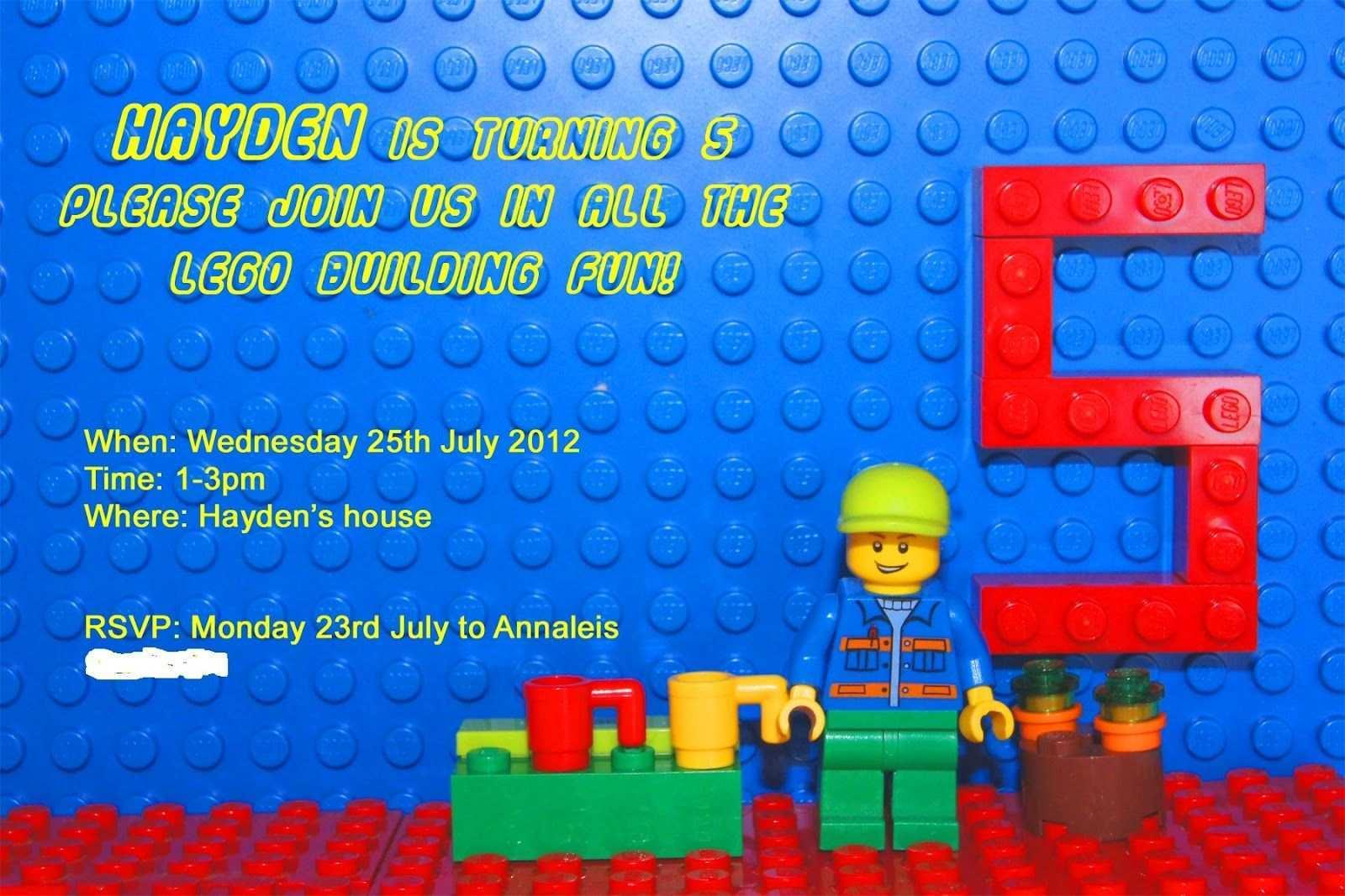 35 blank lego birthday party invitation