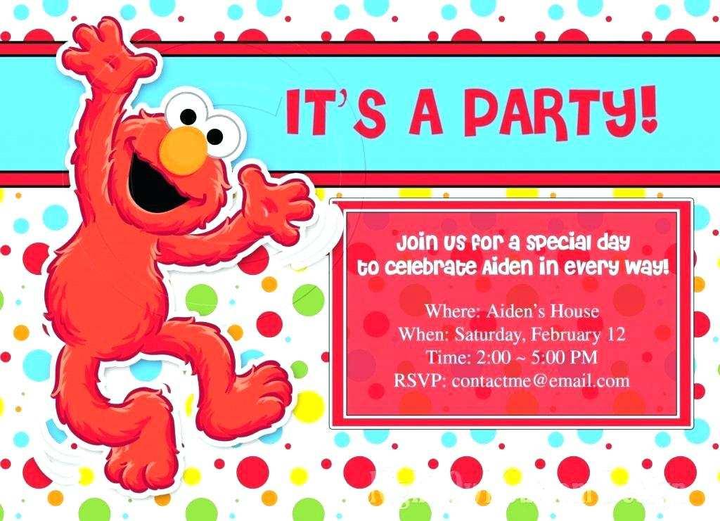 elmo birthday invitation template