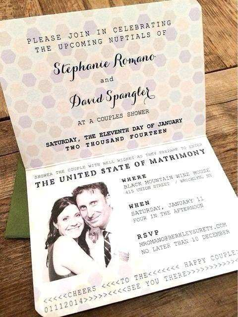 wedding invitation cards like passport