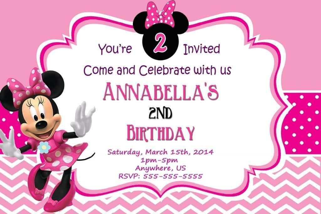44 Standard Minnie Mouse Birthday Invitation Template Maker With Minnie Mouse Birthday Invitation Template Cards Design Templates