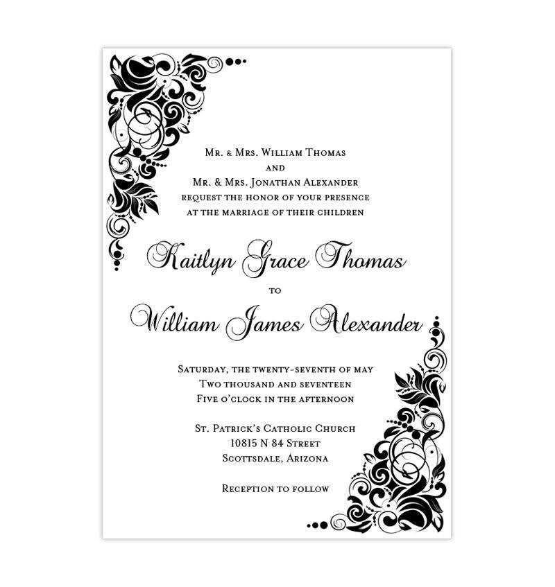 45 creating blank wedding invitation