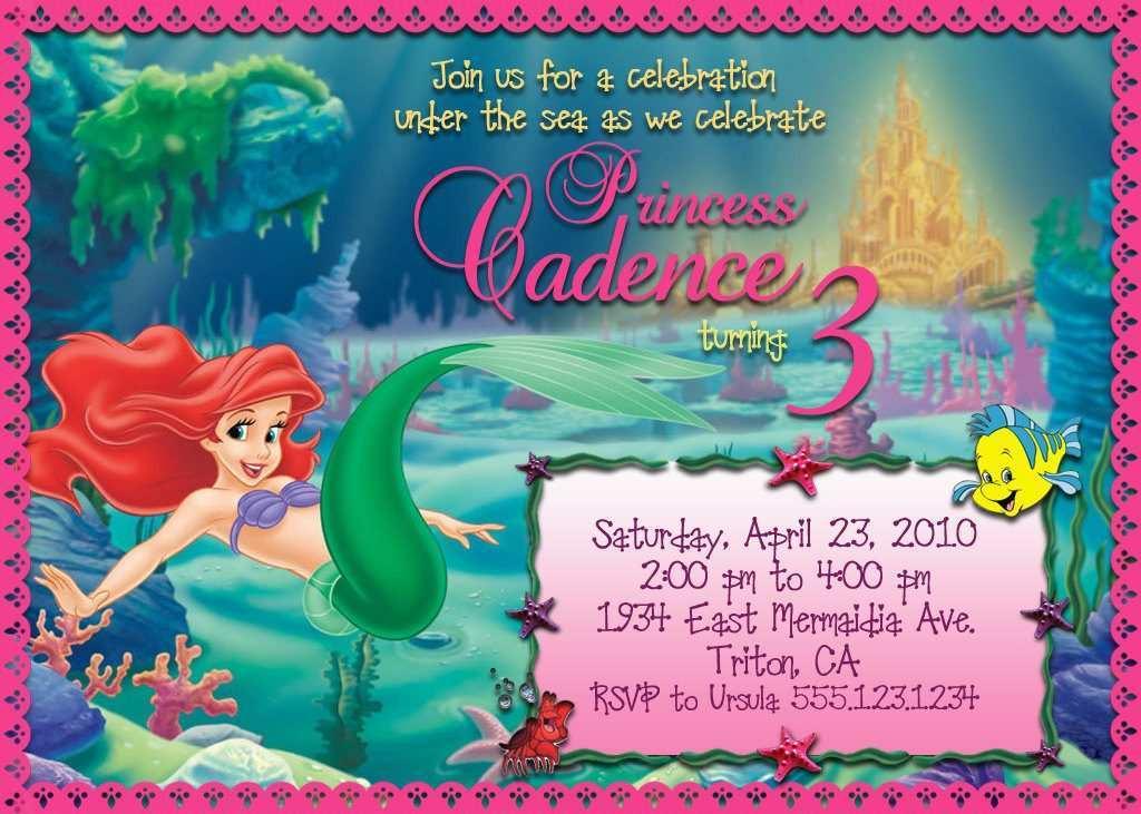 45 format little mermaid birthday