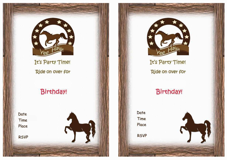 47 visiting horse birthday invitation