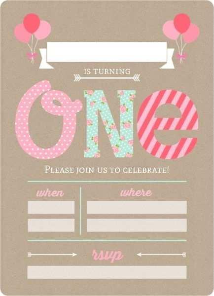 1st birthday invitation template blank