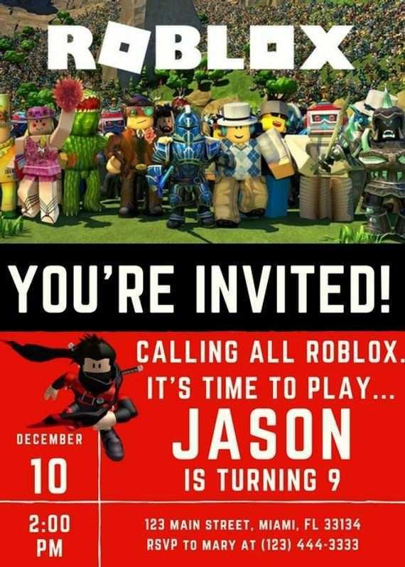 55 format roblox birthday invitation