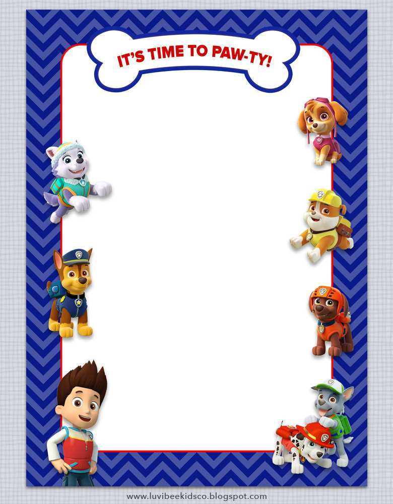 57 how to create paw patrol birthday