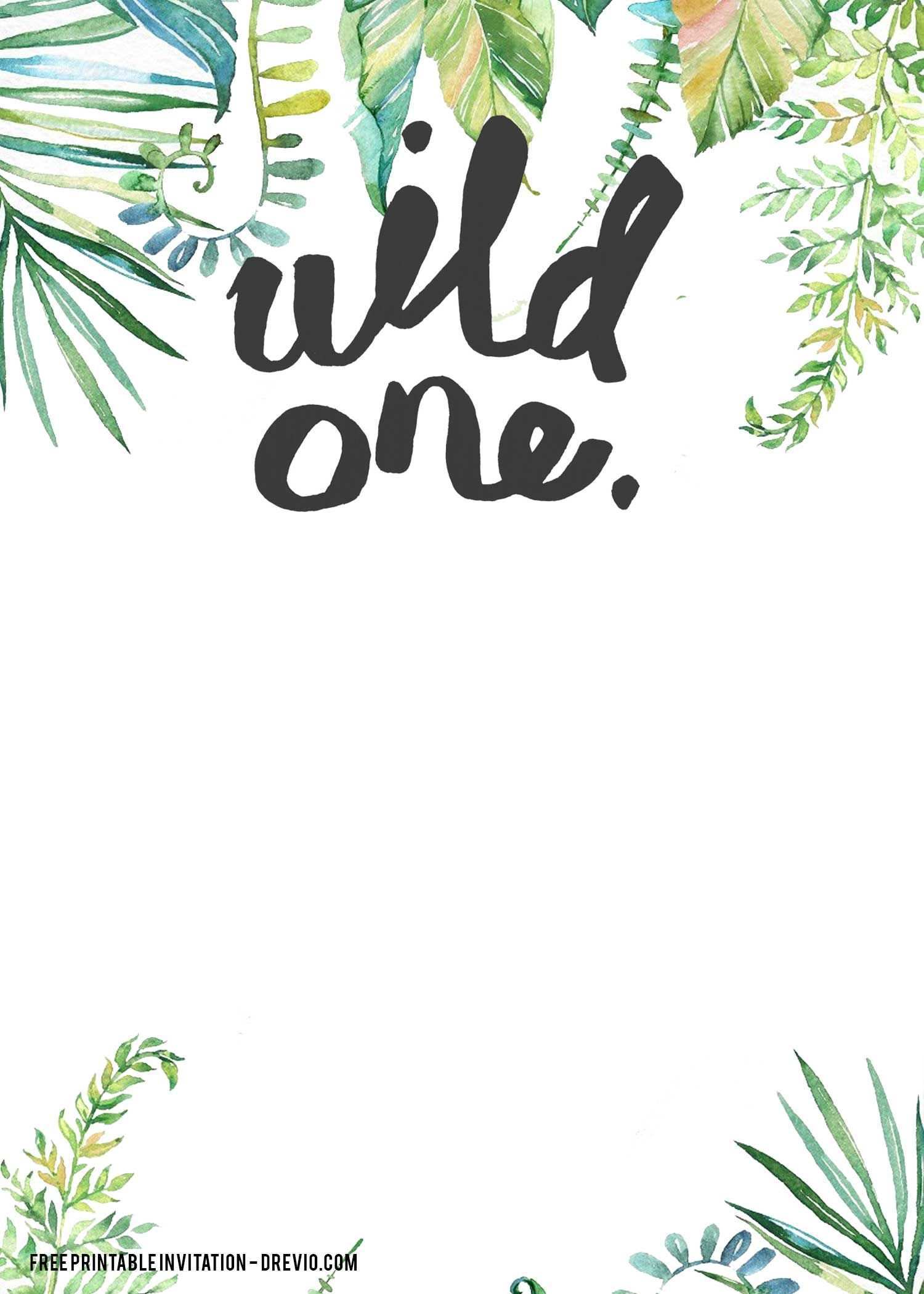 birthday invitation templates wild one