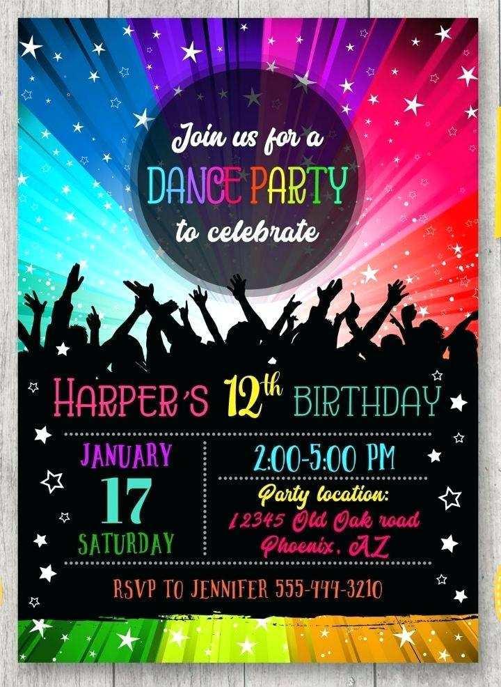 64 printable free 90s party invitation