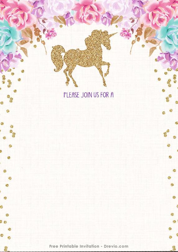 64 visiting unicorn theme birthday