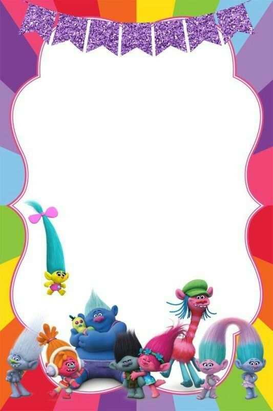 65 Free Printable Trolls Party Invitation Template Maker By Trolls Party Invitation Template Cards Design Templates