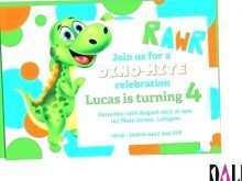 20 blank dinosaur birthday invitation