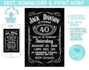 69 free printable jack daniels birthday