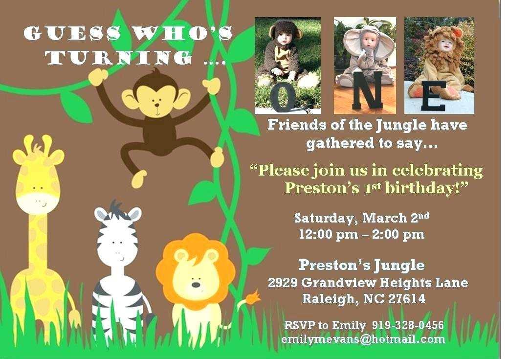 74 creating jungle birthday invitation