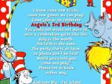 dr seuss birthday invitation template