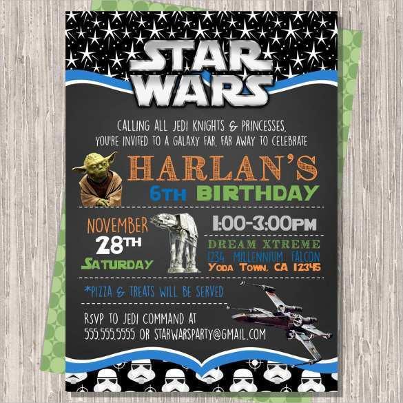 80 Creative Star Wars Birthday Invitation Template For Free With Star Wars Birthday Invitation Template Cards Design Templates