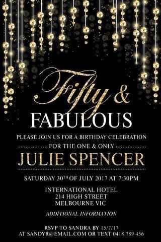 birthday invitation template adults
